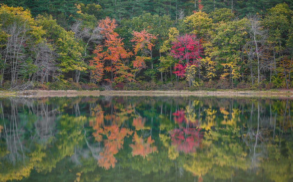 An overcast autumn day in the White Mountains of New Hampshire.