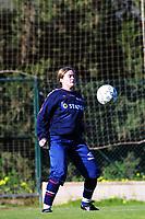Football, La Manga  Spania, 8 januar 2000. Norsk kvinnelandslaget i fotball. Ingrid Camilla Fosse Sæthre, Bjørnar.