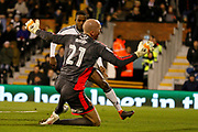 Fulham defender Ryan Sessegnon (3) scores a goal (score 1-0) during the EFL Sky Bet Championship match between Fulham and Wolverhampton Wanderers at Craven Cottage, London, England on 24 February 2018. Picture by Andy Walter.