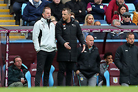Aston Villa v Derby County - Sky Bet Championship<br /> BIRMINGHAM, ENGLAND - APRIL 28 :  Derby County manager, Gary Rowett, talks with assistant, Kevin Summerfield during the match
