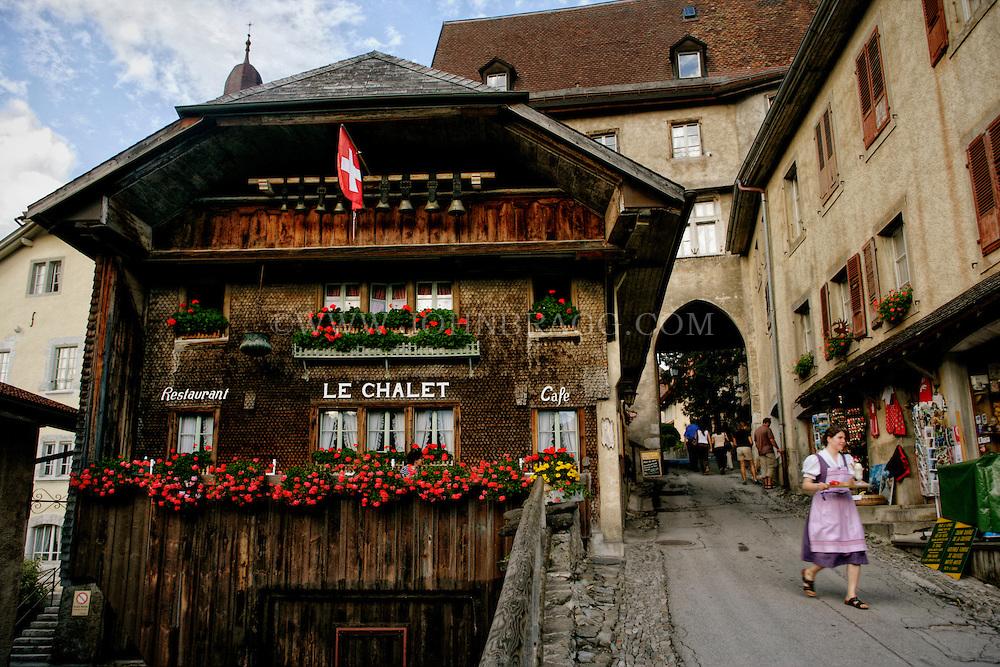 Le Chalet Cafe and marketplace Gruyere, Switzerland.