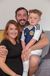 Billy and Yvonne Irving with their son William,  at home in Paisley. They have announced they are expecting their second child.
