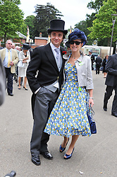 RICHARD HAMMOND and his wife AMANDA at day 2 of the 2011 Royal Ascot Racing festival at Ascot Racecourse, Ascot, Berkshire on 15th June 2011.