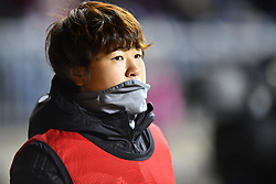 February 27, 2019 - Chester, PA, U.S. - CHESTER, PA - FEBRUARY 27: Japan Defender Asato Miyagawa (24) warms up on the sideline in the first half during the She Believes Cup game between Japan and the United States on February 27, 2019 at Talen Energy Stadium in Chester, PA. (Photo by Kyle Ross/Icon Sportswire) (Credit Image: © Kyle Ross/Icon SMI via ZUMA Press)