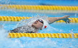 JAKARTA, Aug. 19, 2018  Liu Yaxin of China competes during Women's 200m Backstroke Final in the 18th Asian Games in Jakarta, Indonesia, Aug. 19, 2018. Liu won the gold medal. (Credit Image: © Fei Maohua/Xinhua via ZUMA Wire)