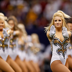 Jan 9, 2012; New Orleans, LA, USA; The LSU Tigers Golden Girls dance team perform before the 2012 BCS National Championship game against the Alabama Crimson Tide at the Mercedes-Benz Superdome.  Mandatory Credit: Derick E. Hingle-US PRESSWIRE