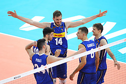 L'ITALIA ESULTA<br /> ITALIA - SERBIA<br /> PALLAVOLO VNL VOLLEYBALL NATIONS LEAGUE 2019<br /> MILANO 21-06-2019<br /> FOTO GALBIATI - RUBIN