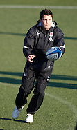 Picture by Andrew Tobin/Focus Images Ltd. 07710 761829.. 2/2/12. Brad Barritt in action during the England team training session held for the first time at Surrey Sports Park, Guildford, UK, before their 6-Nations game against Scotland