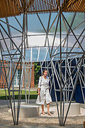 The new Serpentine Pavilion designed by Diebedo Francis Kere is opened outside the Serpentine gallery in Hyde Park.