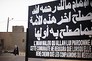 Sign proclaiming Timbuktu is under Sharia law were places around the town on Jan. 31, 2013, days after the town was brought under control of the Malian government.