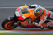 Dani Pedrosa leading the Moto GP Race, and winner at the end