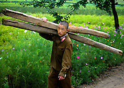 NORTH KOREA:<br /> The pictures Kim Jong Un doesn't want you to see<br /> <br /> Since 2008, Eric Lafforgue ventured to North Korea six times. Thanks to digital memory cards, I was able to save photos that I was forbidden to take or was told to delete by the minders.<br /> <br /> Photo Shows:  North Korean army is said to be one of the most important in the world. But if you travel there, you'll often see soldiers doing menial tasks like helping farmers.<br /> ©Eric Lafforgue/Exclusivepix Media