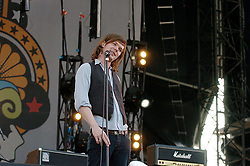 Idlewild, a Scottish rock band formed in Edinburgh in 1995. The band's line-up consists of Roddy Woomble (lead vocals), Rod Jones (guitar, backing vocals), Colin Newton (drums), Andrew Mitchell (bass), and Luciano Rossi (keyboards). <br /> performing live at the Isle of Wight Festival, IOW, Great Britain <br /> 10th June 2005 <br /> <br /> Idlewild<br /> <br /> Photograph by Elliott Franks