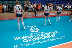 Covid rules after Brazil - Netherlands, FIVB U20 Women's World Championship on July 11, 2021 in Rotterdam