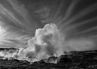 Geothermal vents on the Reykjanes peninsula near Keflavik, Iceland