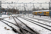 Nederland, Nijmegen, 17-1-2013De N.S. heeft grote problemen door het winterse weer en heeft de dienstregeling aangepast. Foto: Flip Franssen/Hollandse Hoogte