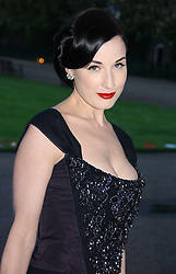 DITA VON TEESE at a party to celebrate the opening of Roger Vivier in London held at The Orangery, Kensington Palace, London on 10th May 2006.<br />