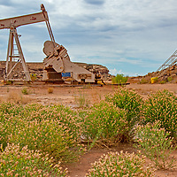 An oil rig pumps near Bluff, Utah, on the edges of Bears Ears National Monument, Utah, which was recently downsized by the Trump administration in part to allow increased drilling in the area.