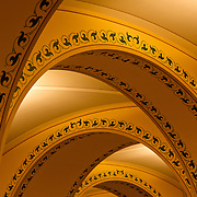 Basement arches of the Library of Congress, the nation's oldest federal cultural institution, which serves as the research arm of Congress. It is also the largest library in the world, with millions of books, recordings, photographs, maps and manuscripts in its collections.
