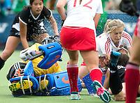 BREDA (Neth.)  during the match  New Zealand vs England U21 women . Volvo Invitational Tournament U21. COPYRIGHT KOEN SUYK