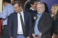 Luigi De Magistris e Aurelio De Laurentiis <br /> Napoli 07-05-2015 Stadio San Paolo <br /> Football Calcio UEFA Europa League Semi-finals, First leg. Napoli - Dnipro.<br /> Foto Cesare Purini / Insidefoto