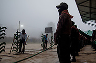 Esercito zapatista di liberazione nazionale gestisce l'ordine del festival CompArte
