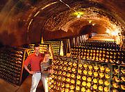 Schramsberg Winery Caves, Calistoga, Napa Valley, California.