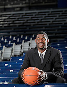 Former Bulter player Avery Jukes poses for a portrait at Hinkle Fieldhouse in Indianapolis,  Thursday, March 10, 2011.