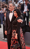 Producers John Lesher and Sue Kroll at the gala screening for the film Black Mass at the 72nd Venice Film Festival, Friday September 4th 2015, Venice Lido, Italy.