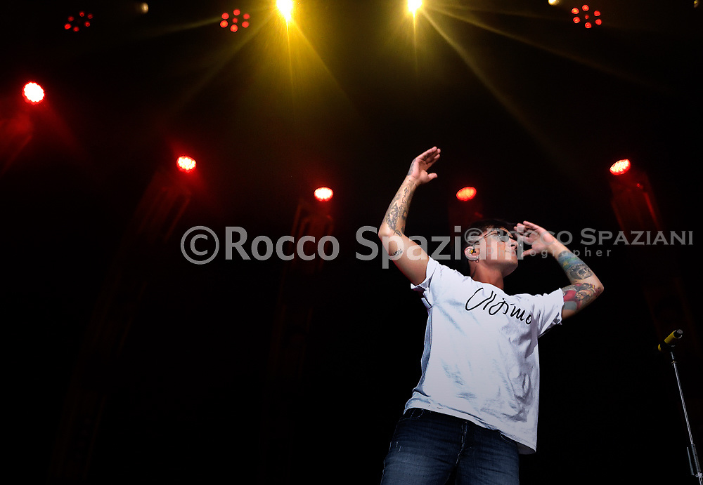 Italian singer Ultimo in  concert at the Palalottomatica in Rome.2 November 2018<br /> By photo Rocco Spaziani