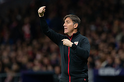 November 10, 2018 - Madrid, Madrid, Spain - Coach of Athletic de Bilbao Roberto Berizzo during La Liga football match between Atletico de Madrid and Athletic de Bilbao played at the Wanda Metropolitano Stadium in Madrid, on November 10th 2018 (Credit Image: © AFP7 via ZUMA Wire)