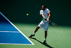 September 5, 2018 - Flushing Meadow, NY, U.S. - FLUSHING MEADOW, NY - SEPTEMBER 05: MARIN CILIC (CRO) day ten of the 2018 US Open on September 05, 2018, at Billie Jean King National Tennis Center in Flushing Meadow, NY. (Photo by Chaz Niell/Icon Sportswire) (Credit Image: © Chaz Niell/Icon SMI via ZUMA Press)