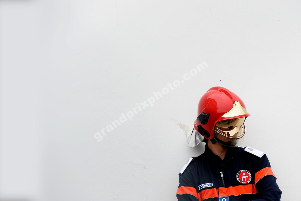 Local marshall during practice before the 2019 Monaco Grand Prix. Photo: Grand Prix Photo