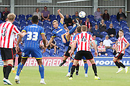 Paul Robinson in action during the Pre-Season Friendly match between AFC Wimbledon and Cheltenham Town at the Cherry Red Records Stadium, Kingston, England on 1 August 2015. Photo by Stuart Butcher.