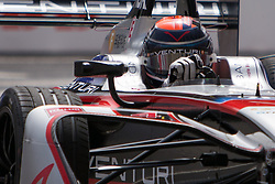 April 14, 2018 - Rome, RM, Italy - E. Mortara of Venturi during Rome E-Prix Round 7 as part of the ABB FIA Formula E Championship on April 14, 2018 in Rome, Italy. (Credit Image: © Danilo Di Giovanni/NurPhoto via ZUMA Press)