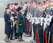 SANDHURST- UK- 16th Dec 2016. <br /> <br /> HRH The Duchess of Cornwall represents Her Majesty The Queen at The Sovereign's Parade, at the Royal Military Academy Sandhurst, Camberley, Surrey<br /> ©Exclusivepix Media