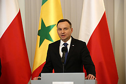 October 27, 2016 - Warsaw, Poland - President Duda received Senegal¬¥s President (not seen) Macky Sall with military honours for official visit at Presidential Palace. President Sall and President Duda held bilateral consultations in Warsaw. (Credit Image: © Jakob Ratz/Pacific Press via ZUMA Wire)