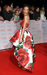 Megan McKenna attending the National Television Awards 2018 held at the O2, London. Photo credit should read: Doug Peters/EMPICS Entertainment