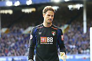 Bournemouth Goalkeeper Asmir Begovic looks on. Premier league match, Everton vs Bournemouth at Goodison Park in Liverpool, Merseyside on Saturday 23rd September 2017.<br /> pic by Chris Stading, Andrew Orchard sports photography.