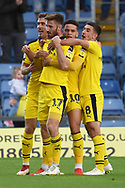 James Henry (17) of Oxford United scores a goal 2-1 and celebrates during the EFL Sky Bet League 1 match between Oxford United and Burton Albion at the Kassam Stadium, Oxford, England on 25 August 2018.