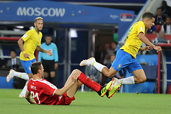 June 27, 2018 - Moscow, Russia - June 27, 2018, Russia, Moscow, FIFA World Cup 2018, First round, Group D, Third round. Football match Serbia - Brazil at the stadium of Spartak. Player of the national team Nemanja Matic. (Credit Image: © Russian Look via ZUMA Wire)