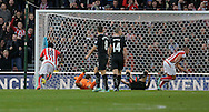 Jon Walters of Stoke City (right) celebrates following his first goal - Football - Barclays Premier League - Stoke City vs Burnley - Britannia Stadium Stoke - Season 2014/2015 - 22nd November 2015 - Photo Malcolm Couzens /Sportimage