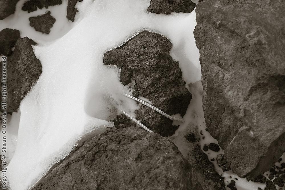 100 year old cord still tied to igloo rocks