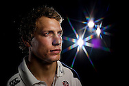 Billy Twelvetrees of England looks on in a photoshoot after training at Pennyhill Park, Bagshot, Surrey on the 8th February 2013. (Photo by Andrew Tobin www.slikimages.com)