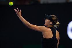 October 1, 2018 - Belinda Bencic of Switzerland in action during her first-round match at the 2018 China Open WTA Premier Mandatory tennis tournament (Credit Image: © AFP7 via ZUMA Wire)