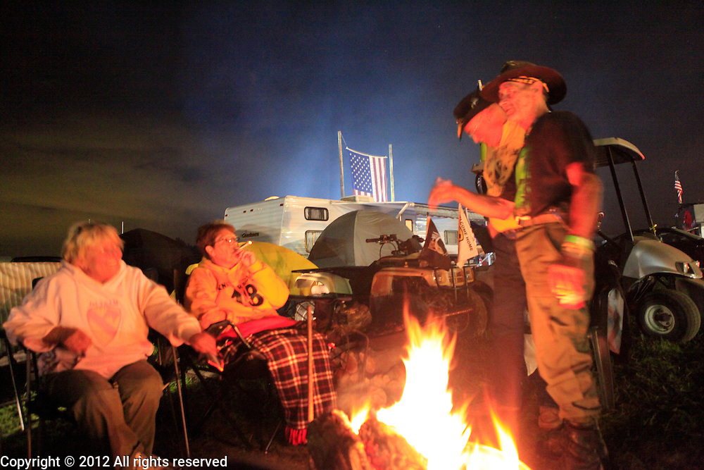 Kokomo Indiana Vietnam Veterans Reunion 2012 First Cavalry Division campfire