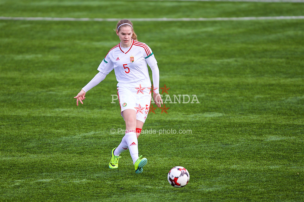 MERTHYR, WALES - Thursday, February 16, 2017: Hungary's Beatrix Fordos in action during a Women's Under-17's International Friendly match against Wales at Penydarren Park. (Pic by Laura Malkin/Propaganda)