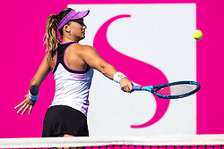 PORTOROZ, SLOVENIA - SEPTEMBER 18: Danka Kovinic of Montenegro competes during the Semifinals of WTA 250 Zavarovalnica Sava Portoroz at SRC Marina, on September 18, 2021 in Portoroz / Portorose, Slovenia. Photo by Matic Klansek Velej / Sportida