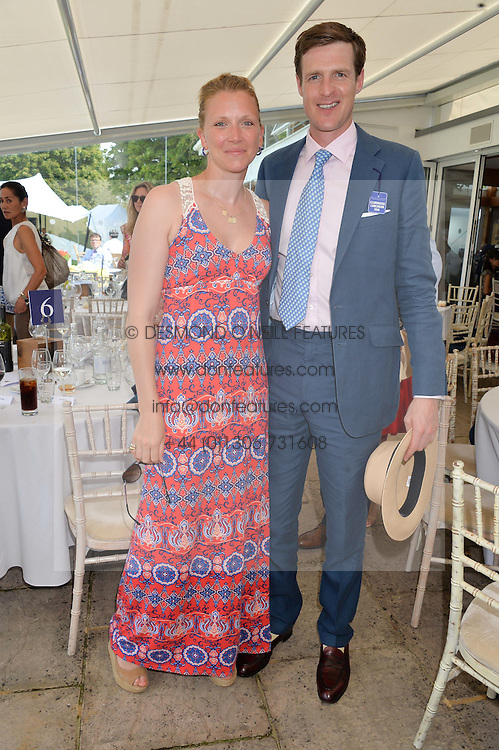 BEN & CHLOE VESTEY at The Royal Salute Coronation Cup Polo held at Guards Polo Club,  Smiths Lawn, Windsor Great Park, Egham on 23rd July 2016.