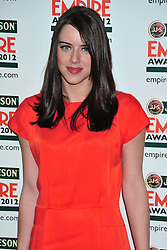 © Licensed to London News Pictures. 25/03/2012. London, England. Michelle Ryan attends the  Jameson Empire Awards held at the Grosvenor Hotel London  Photo credit : ALAN ROXBOROUGH/LNP